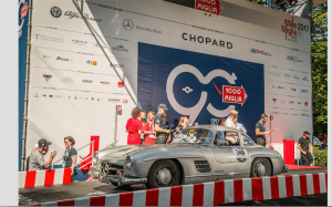 Mille Miglia 2017- Mercedes-Benz Gullwing Coupé (W 198) on the starting ramp, stage from Parma to Brescia, 21 May 2017.