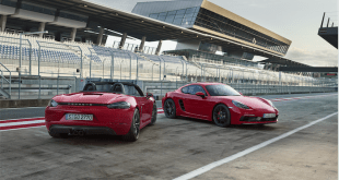 Porsche's new 718-GTS models: The new two-seater 718 Boxster GTS and 718 Cayman GTS.