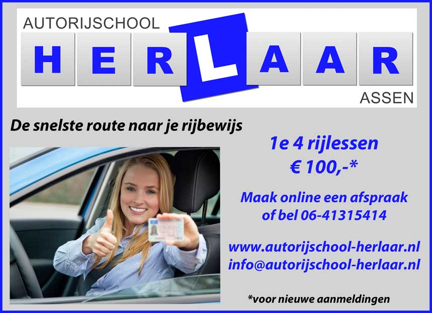 Autorijschool-Herlaar-Assen-rijles-rijschool-rijlessen