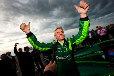 Lord Drayson after breaking electric car land speed record