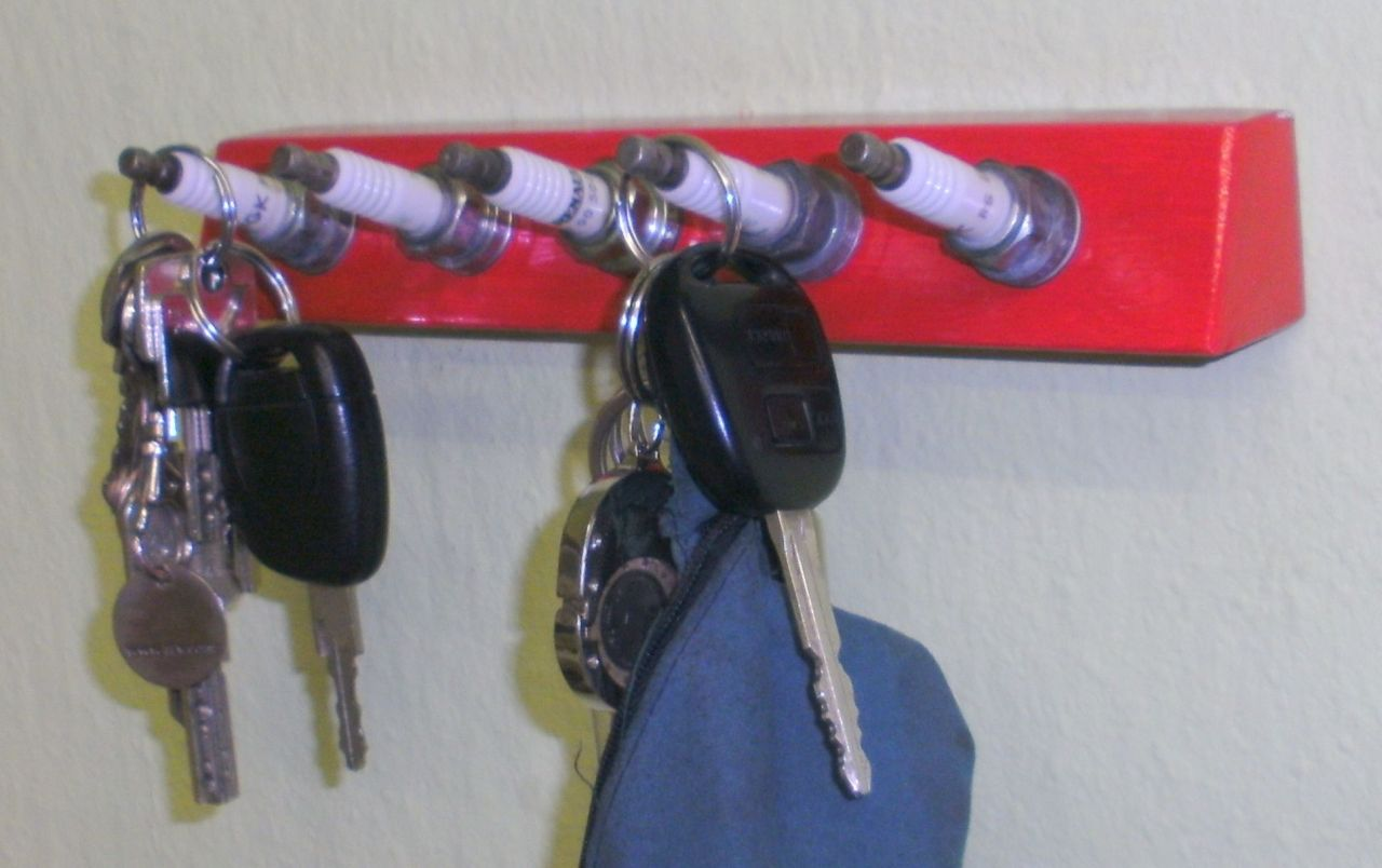 Awesome stuff made out of car parts for Gear shift coat rack