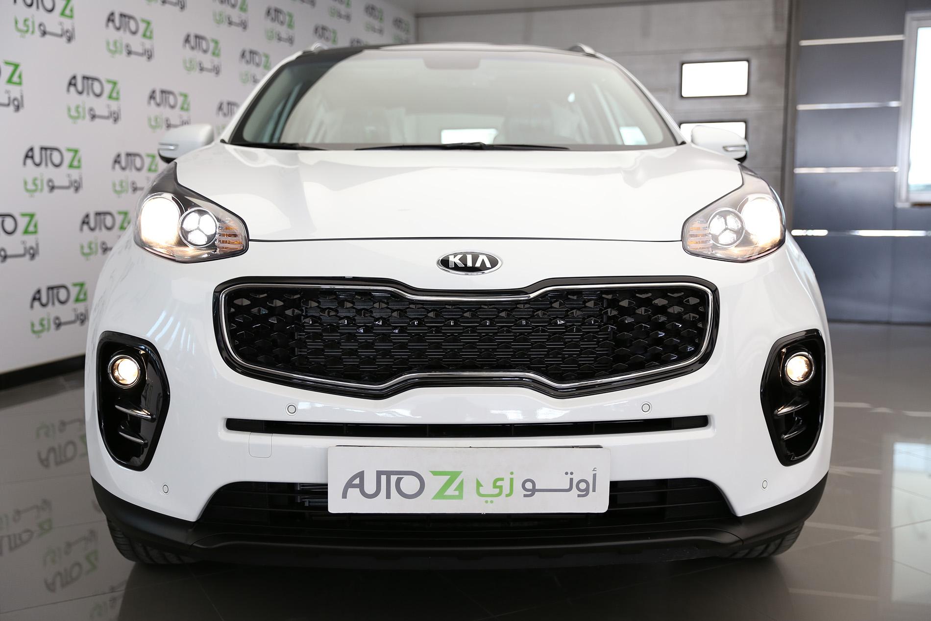 صورة امامية لسيارة كيا سبورتاج بيضاء | اوتو زي سيارات مستعملة في قطر والدوحة
