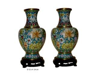 vase en cloisonné