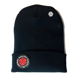 AVALON7 Adventure Company Patch Long winter snowboarding beanie