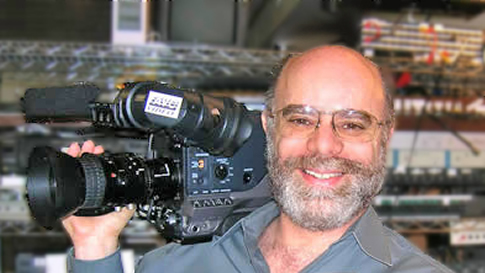 Stu Sweetow with one of AVCs broadcast cameras