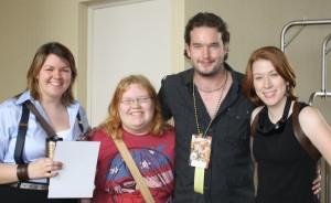 Bex, Jenni. and I with Gareth David-Lloyd Dragon Con 2009. © Sarah Brown.
