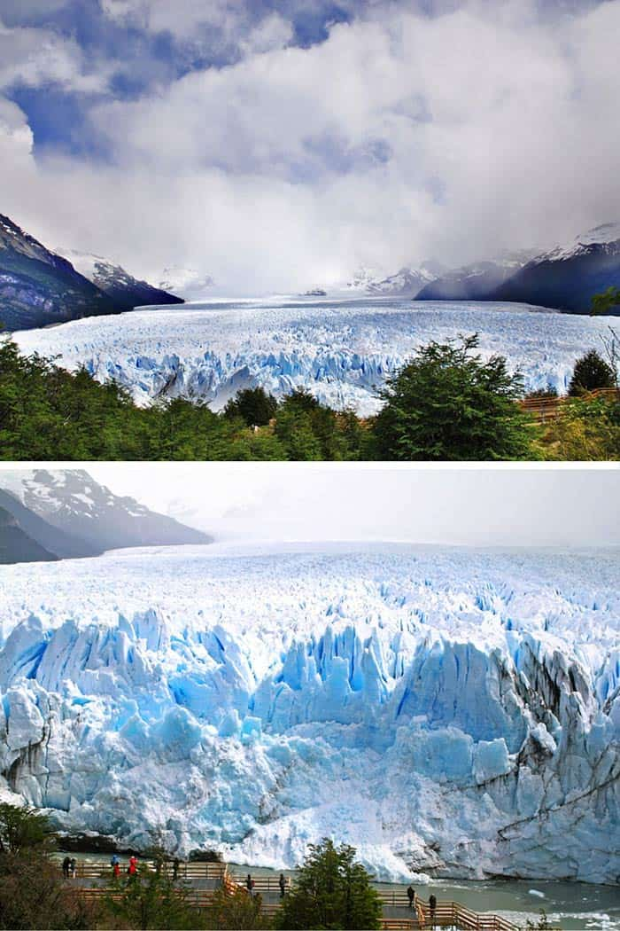 See the incredible glaciers at Los Glaciares National Park, Argentina! Click through to see 20 more UNREAL travel destinations!