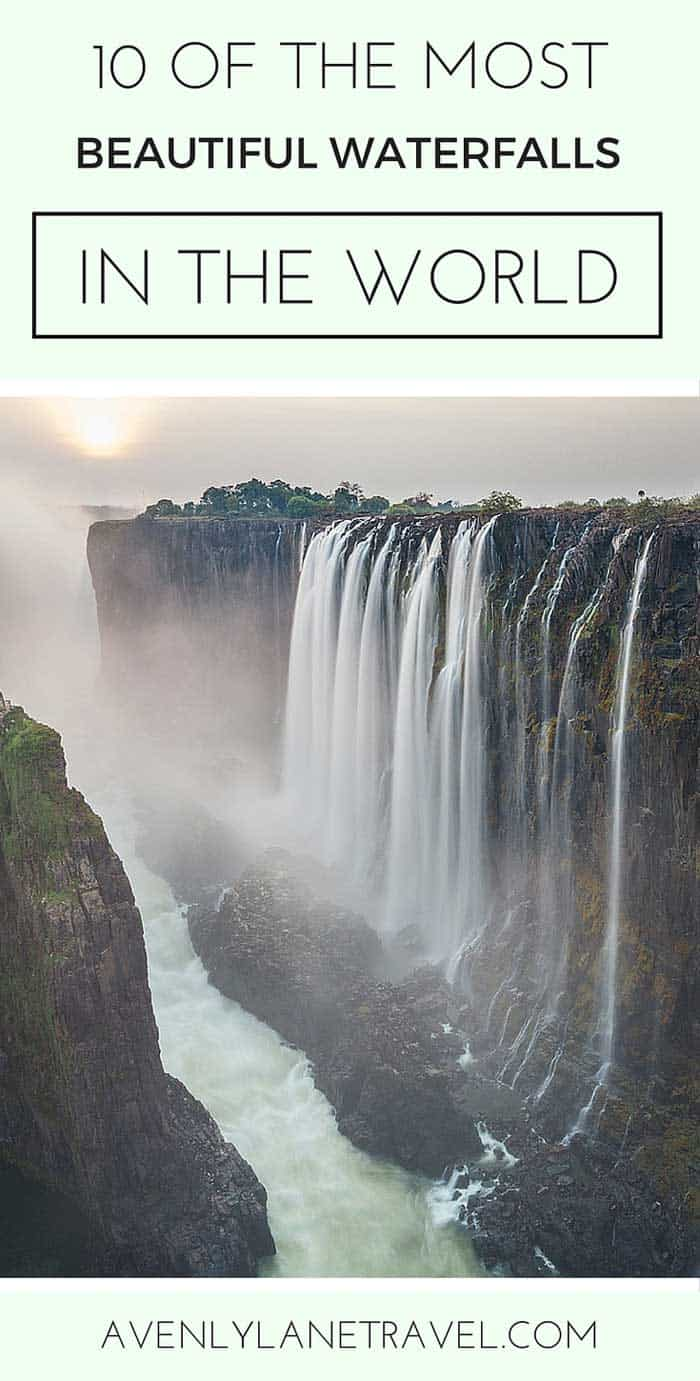 10 of the Most STUNNING Waterfalls in the World! Who would have ever thought water falling down would be so pretty?! - Avenly Lane Travel