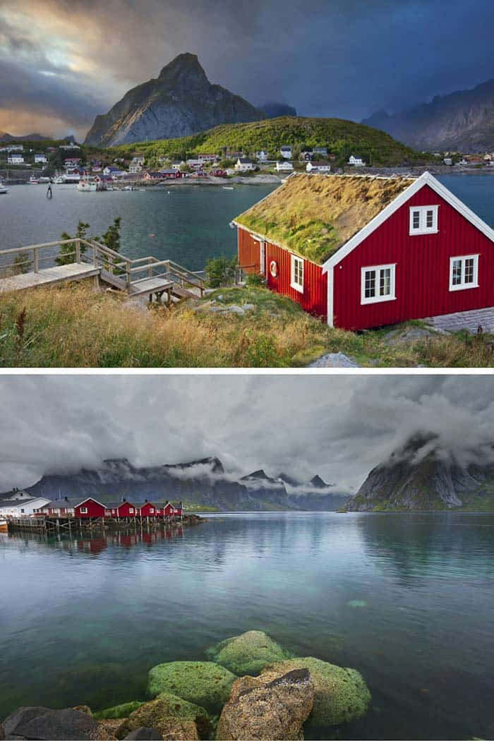 Gorgeous village in Reine, Norway. Click through to see 25 of the most beautiful villages in the world!