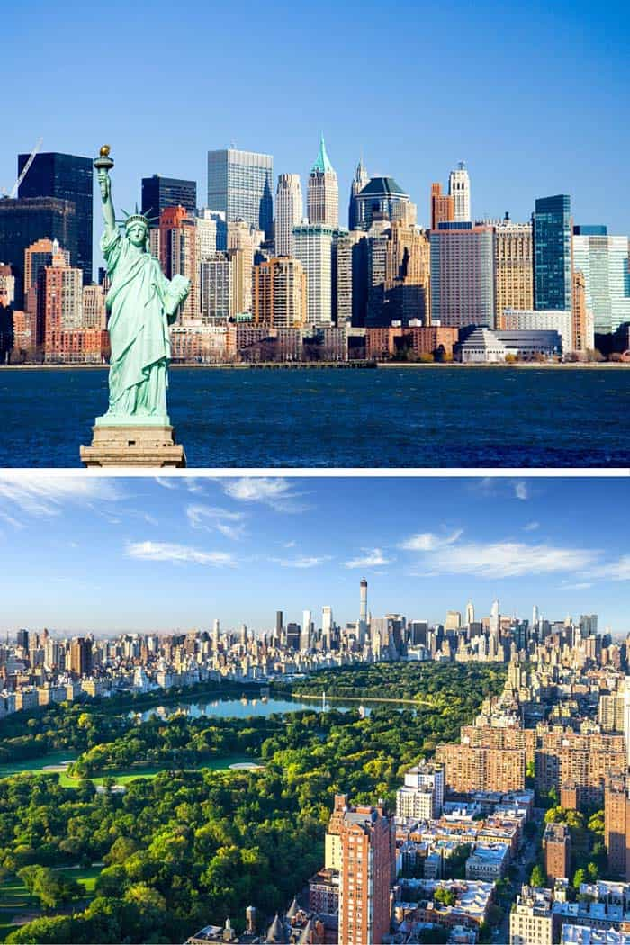 New York City's skyline is one of the most recognizable in the world. One of the best things about New York City is that city planners designed it around 3.5 square miles of park, known as Central Park. Click through to see 18 of the BEST skylines in the world!