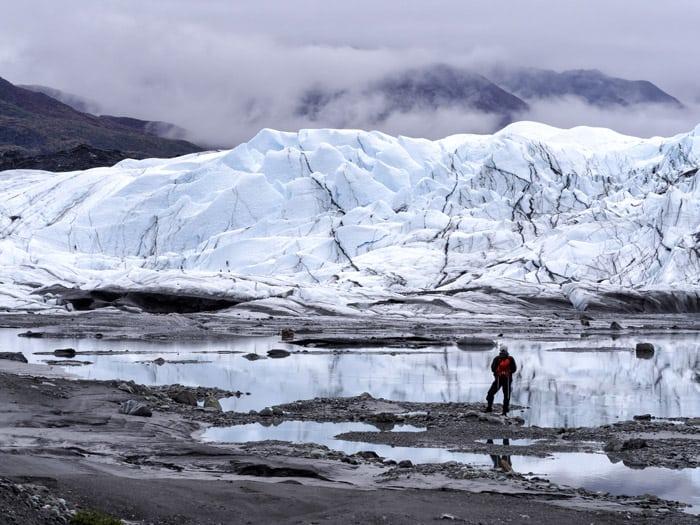 Deep into glacier territory in Alaska!
