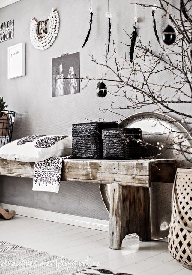 style scandinave ethnique. Black Bedroom Furniture Sets. Home Design Ideas