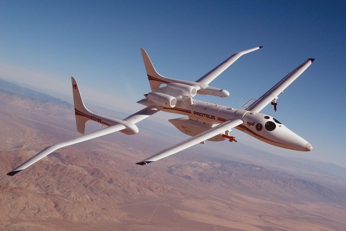 O Proteus, aeronave de exploração para altas altitudes, foi desenvolvido pela Scale Composites, e faz amplo uso de materiais compósitos.
