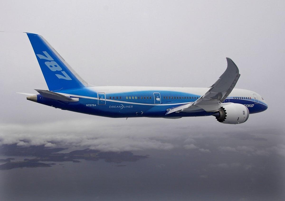 O 787 Dreamliner em seu primeiro voo. Imagem: Boeing.