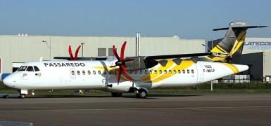 ATR-72 da Passaredo. Imagem: Skyliners.