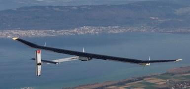 Solar Impulse HB-SIA em seu primeiro voo sobre Payerne