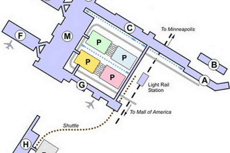 map of msp airport terminal