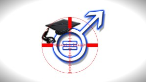 War on Male Students Logo with shadow background