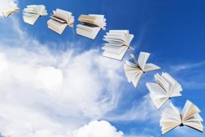 Books flying large high rez