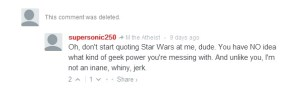 The Southern Poverty Law Center really hates men's advocates who quote star wars