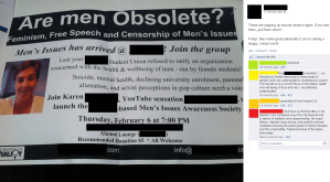 Tearing down CAFE's and karen straughn's posters - free speech