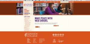 Goshen changes its website