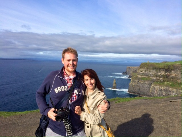 Eric and me cliffs of moher