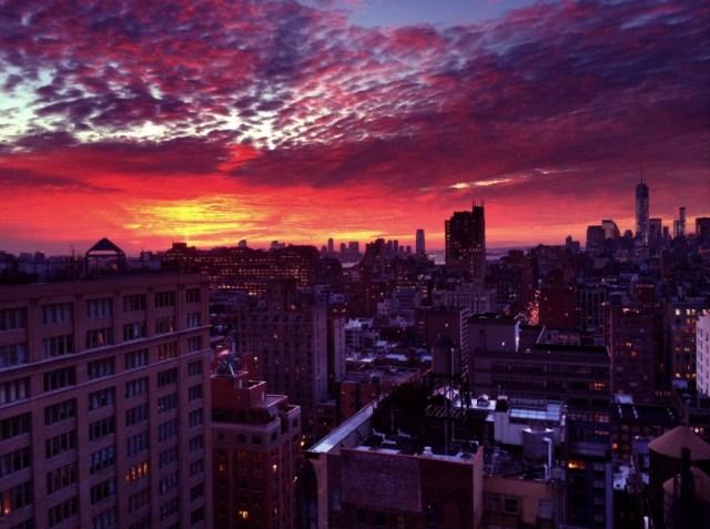 Late November NYC sunset.