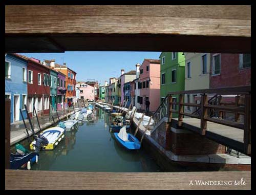 Burano on bridge