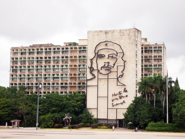 Passing by Plaza de la Revolucion