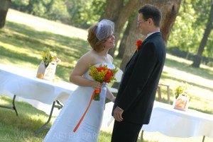 Orange and Yellow Summer Wedding Attire