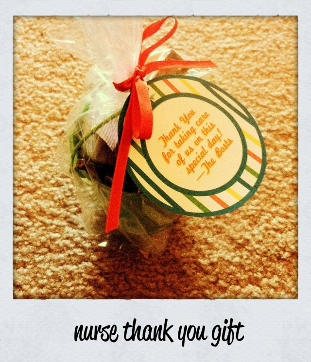 Nurse Thank You Gift Printable - A Well Crafted Party