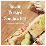Italian Pressed Sandwiches // A Well Crafted Party