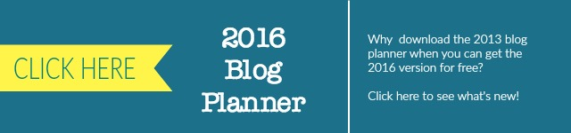 2013 to 2016 Blog Planner
