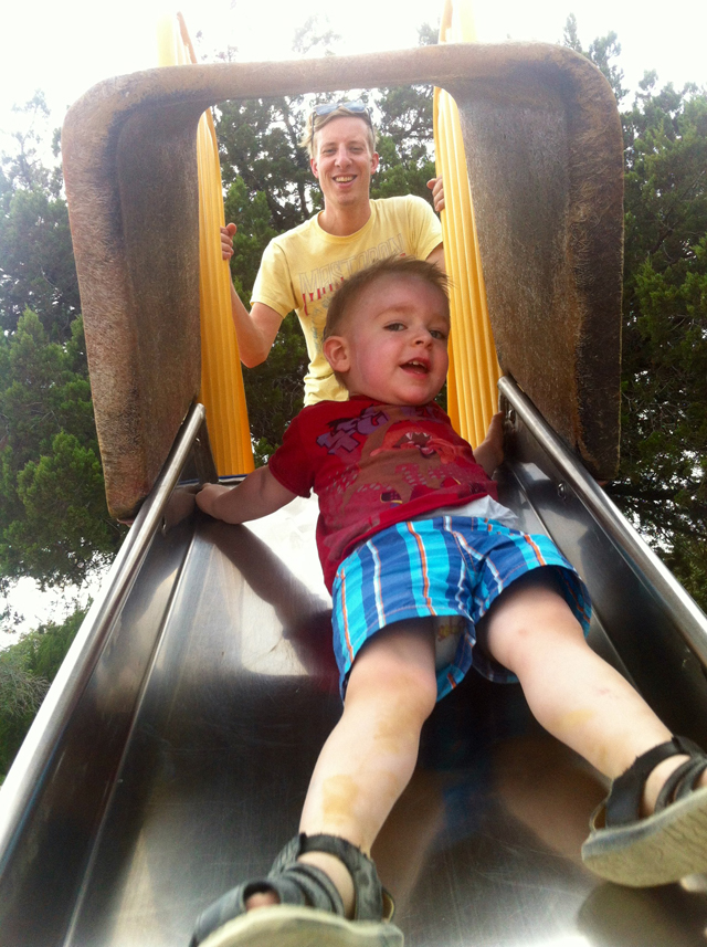 Up the Slide!
