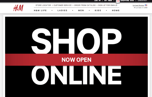 shop online with H&M