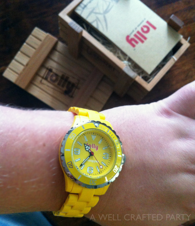 Pineapple Lolly Watch // 20% Discount for Lolly Watches on A Well Crafted Party #sponsored