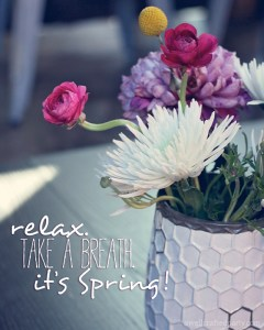 Free Spring Printable from A Well Crafted Party