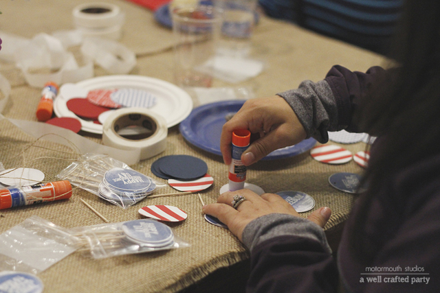 4th of July Party Circles // A Well Crafted Party