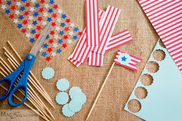 MacSuzie's 4th of July Table Decor featured on A Well Crafted Party