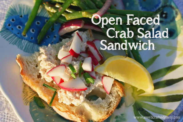 Open Faced Crab Salad Sandwich // A Well Crafted Party