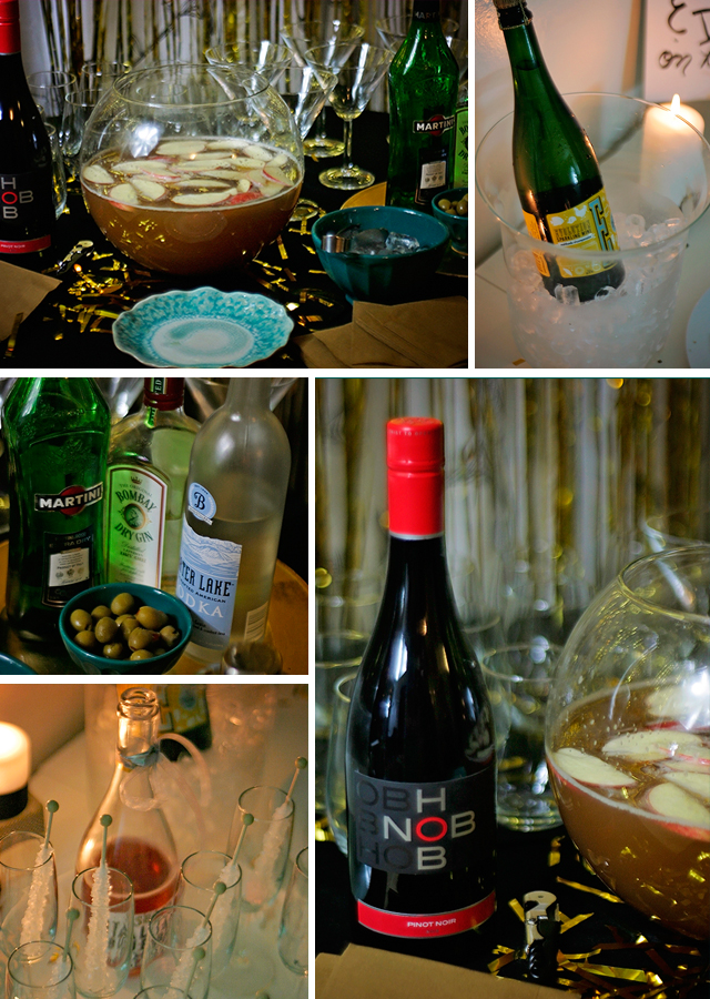 Black, White & Gold Cocktail Party // Real Party featured on A Well Crafted Party