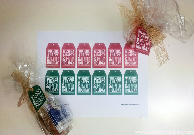 Happy and Healthy Holiday Neighbor Gifts + Free Printables // A Well Crafted Party
