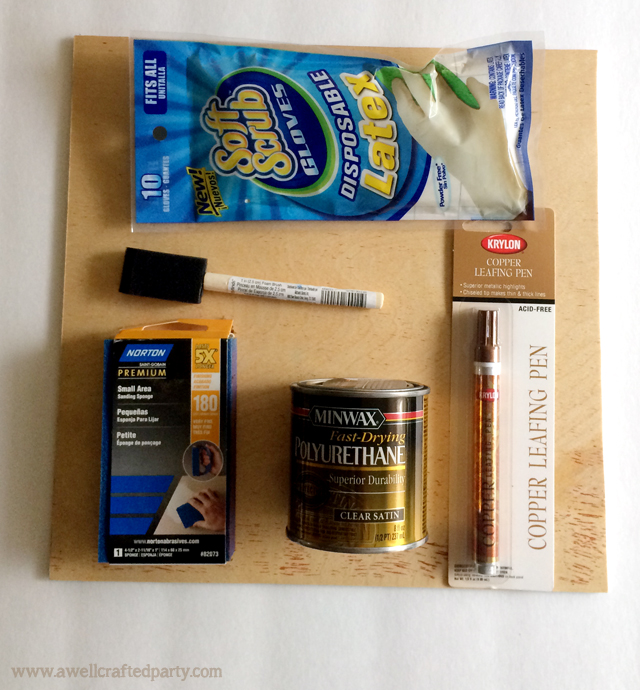 DIY Wood Charger Supplies // A Well Crafted Party