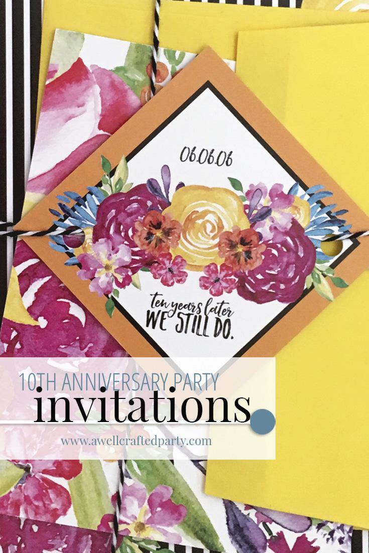 10th Anniversary Party Invitations