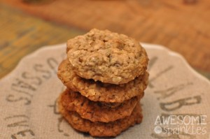 Chewy Oatmeal Cherry Cookies | Awesome with Sprinkles