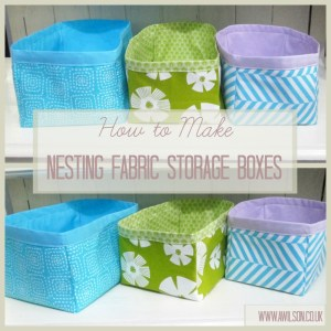 how to make nesting fabric storage boxes