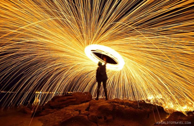 Steel wool phography tutorial-A World to Travel-5