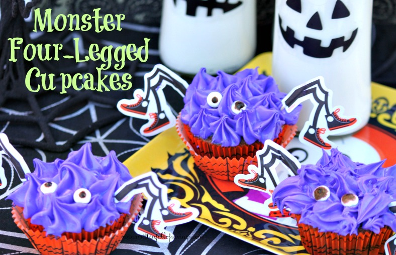 monster 4 legged cupcakes
