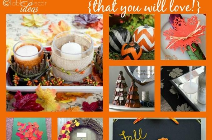 40 FAB Fall Craft & Decor Ideas